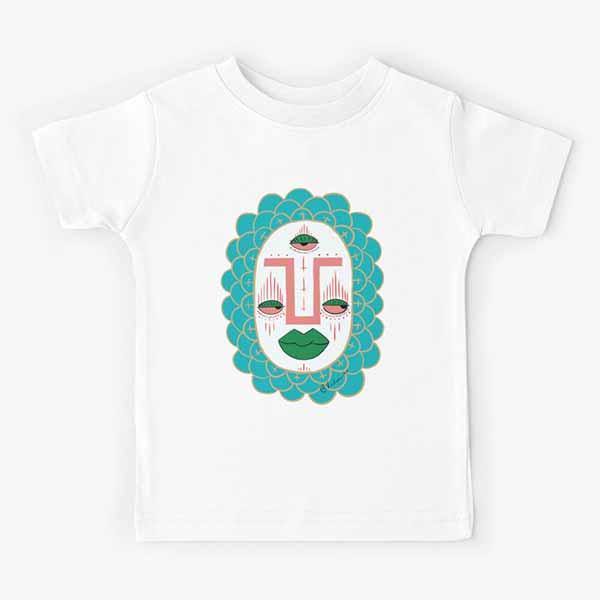 Third Eye with Green Lips Kids T-Shirt