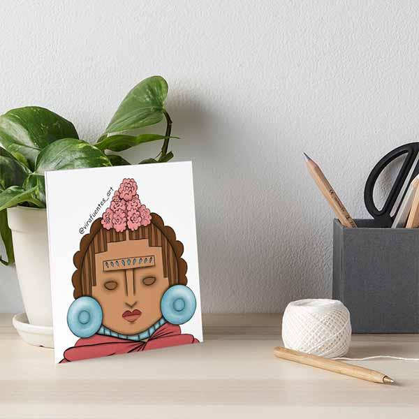 Frida Xochipilli Art Board Print