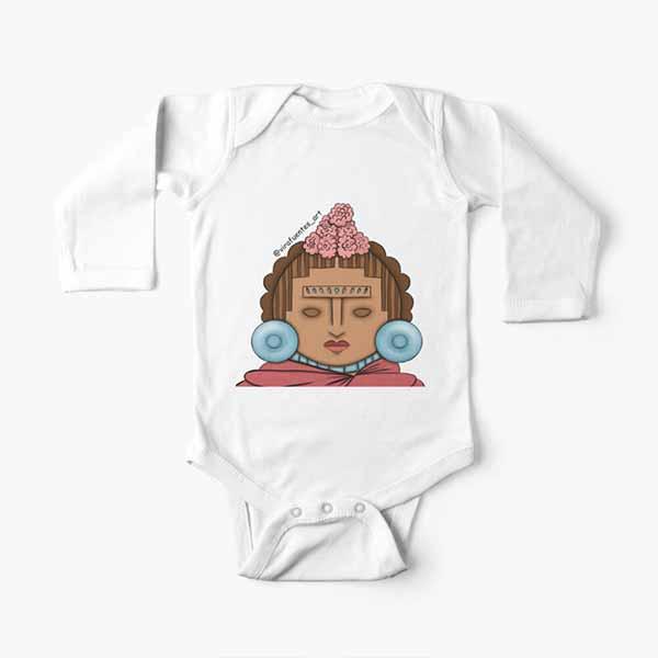 Frida Xochipilli Long Sleeve Baby One-Piece