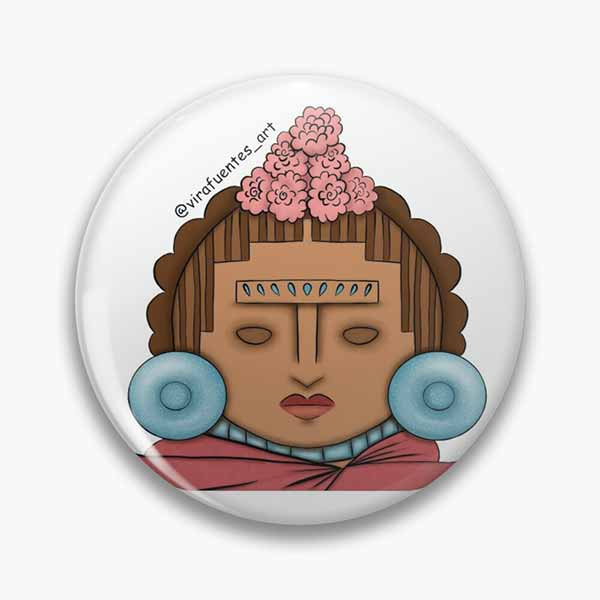 Frida Xochipilli Pin
