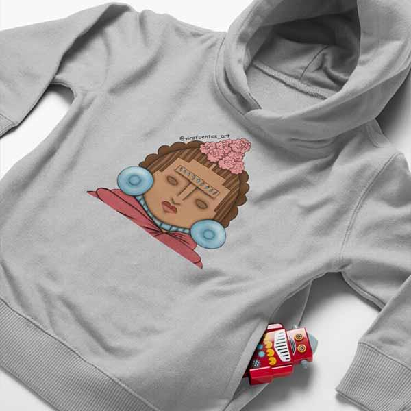Frida Xochipilli Toddler Pullover Hoodie