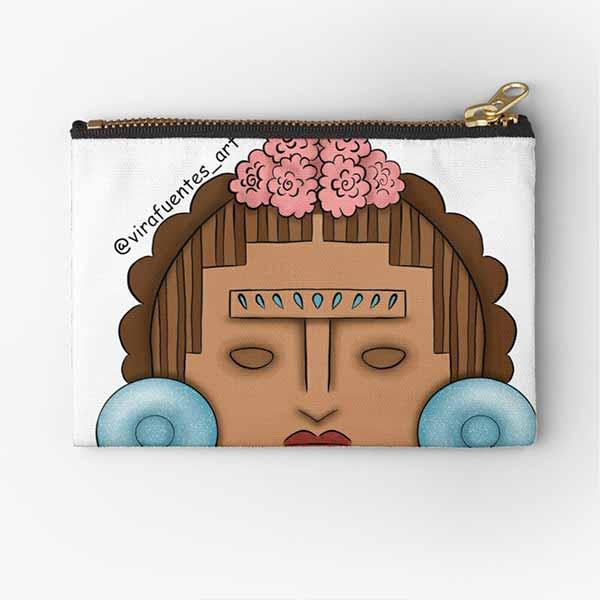 Frida Xochipilli Zipper Pouch