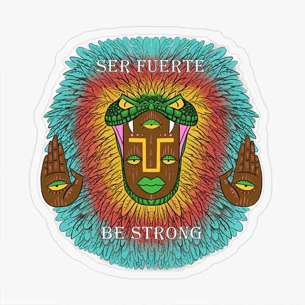 Third Eye Quetzalcoatl Transparent Sticker