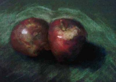 Apples Still Life, Pastels