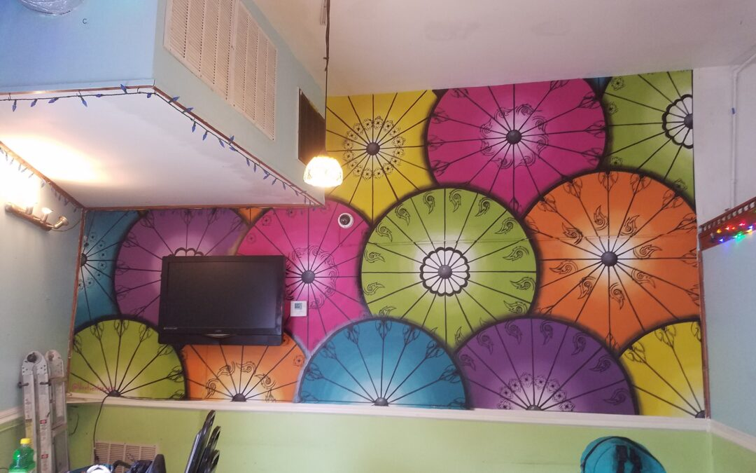Asian Mix Cafe Indoor Mural