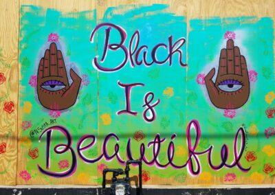 Black Is Beautiful Outdoor Mural