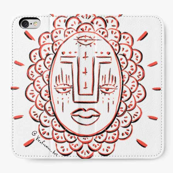 Third Eye Red Face iPhone Wallet