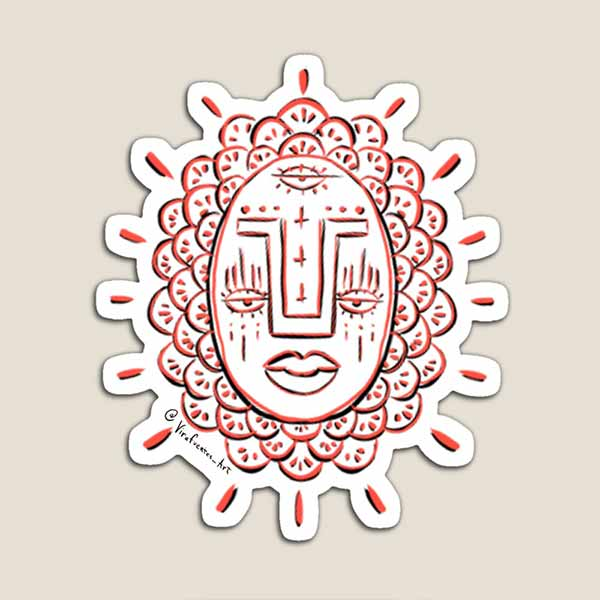 Third Eye Red Face Magnet