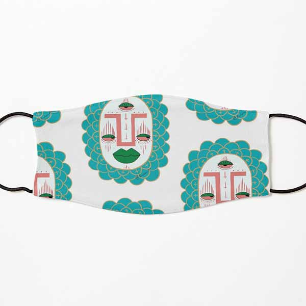 Third Eye with Green Lips Kids Mask