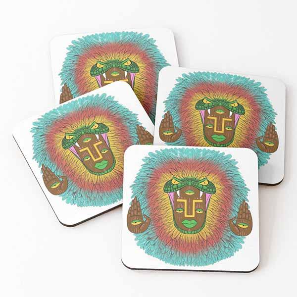 Third Eye Quetzalcoatl Coasters (Set of 4)